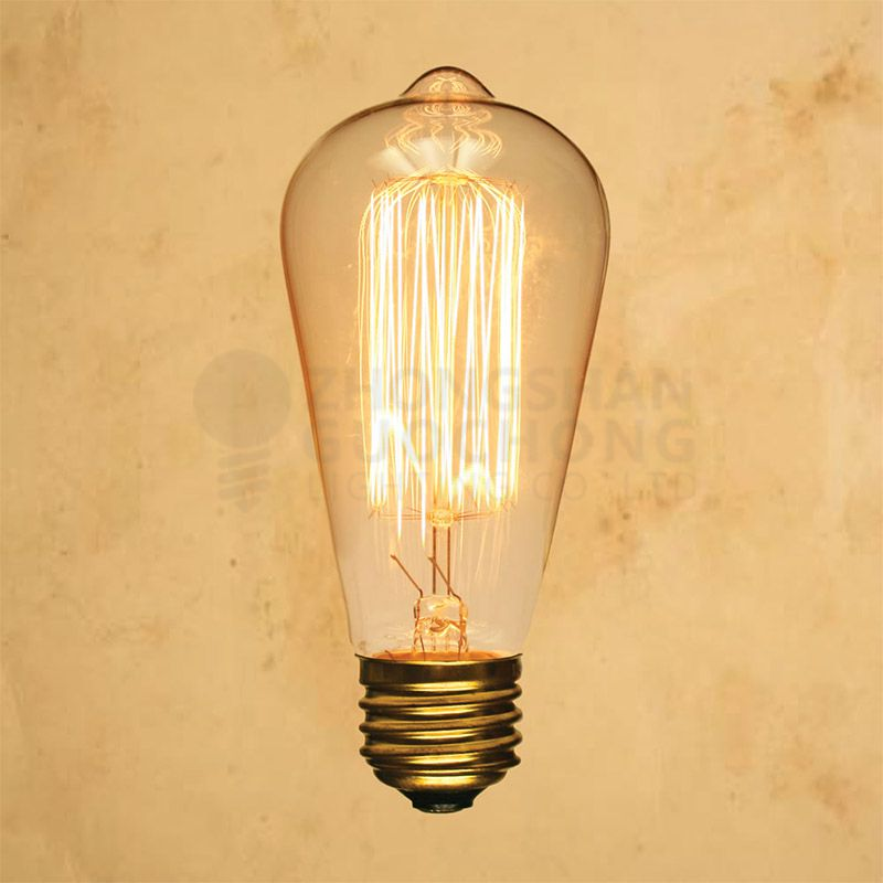 25-WATT INCANDESCENT ST64 GLOBE VINTAGE EDISON LIGHT BULB