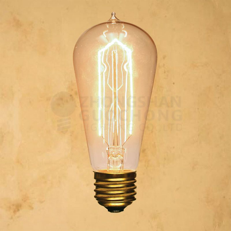 25-WATT INCANDESCENT ST58 VINTAGE EDISON LIGHT BULB