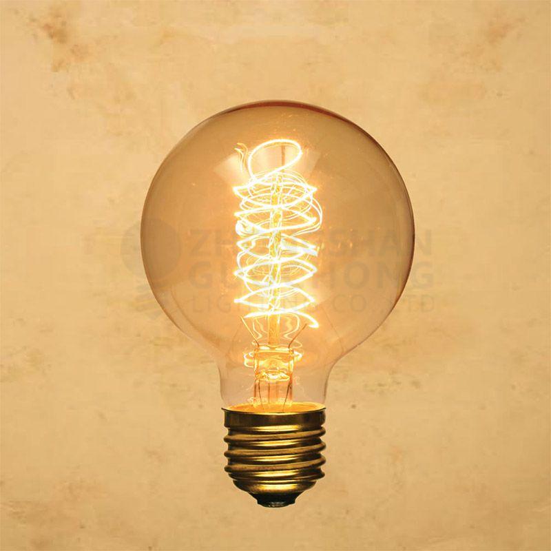 40-WATT INCANDESCENT G80 GLOBE VINTAGE EDISON LIGHT BULB