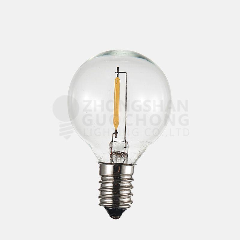 LED 1 FILAMENT LIGHT BULBS, G40 GLOBE, ENERGY SAVING