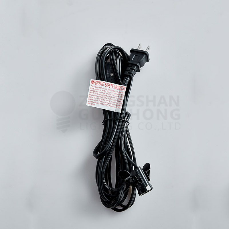 Mini Socket Pendant Light Lamp Cord, E12 Base, 11 Ft