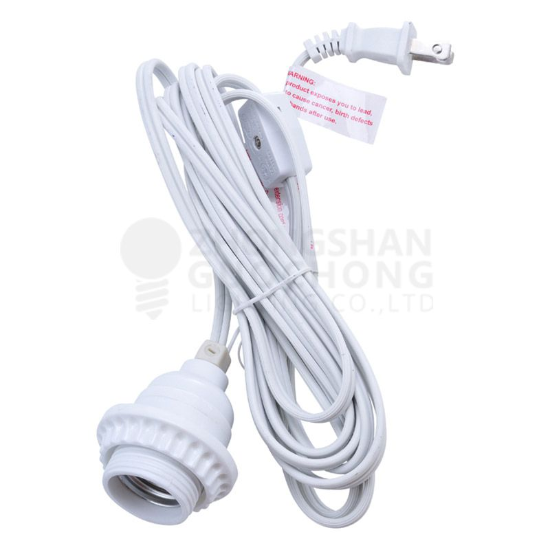 15FT SINGLE SOCKET COMMERCIAL GRADE PENDANT LIGHT LAMP CORD